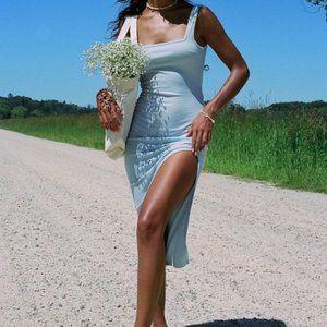 Princess Polly Blue Hilary Bodycon Midi Dress 6US